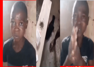 10-years-old Boy Caught Trying To Smoke Bhang (Video).