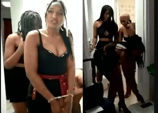 Slay queens arrested after a sponsor abandoned them in a hotel without paying bills (VIDEO)