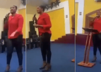 """May God punish you""""- Pastor Curses Her Church Members For Not Contributing Money For Her Birthday (Video)."""