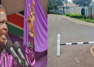 ATWOLI breathing fire after his road sign in Kileleshwa was pulled down and vandalized.See how he reacted