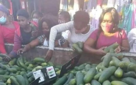 See Why Kenyan Ladies Are Buying Cucumbers At An Alarming Rate; They Really Love It