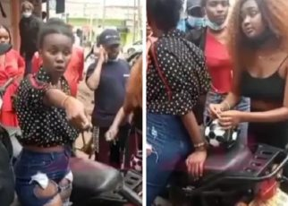 Nduthi Guy Badly Humiliated By a Lady After Stealing Phone Worth 230k in Roysambu.