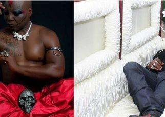 """I am not a witchdoctor""""-Nigerian Singer Who Sleeps In A Coffin Says (PHOTOs)."""