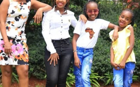 Njogu Wa Njoroge's Mistress Turned Wife, Mary Lincoln Treats Fans With Beautiful Photos Of Her 3 Daughters (PHOTOs)