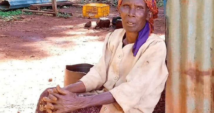Muranga Granny Cries for Help As Land Grabbers Evict Her From Her 1 Acre Land