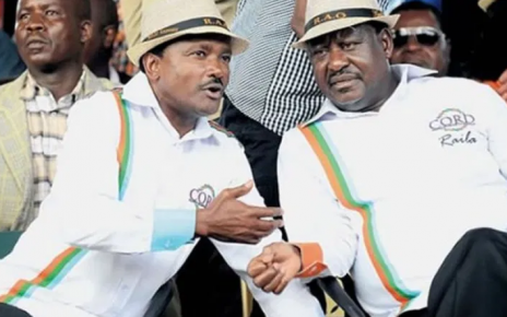 'You owe me a huge political debt and it is time to pay up' KALONZO tells RAILA