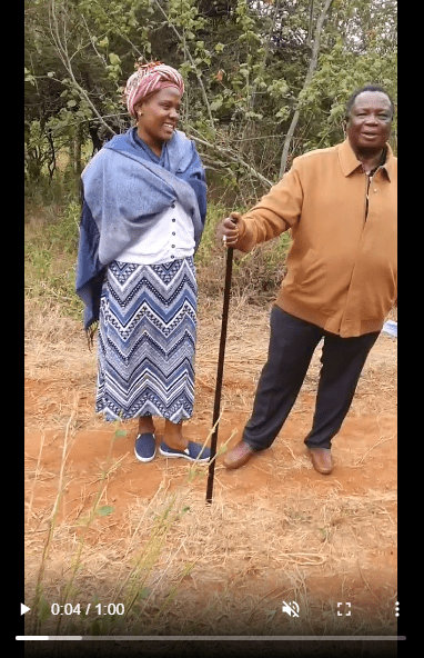 VIDEO of MARY KILOBI dressed like a village grandmother while touring their farm with aging ATWOLI light up the internet