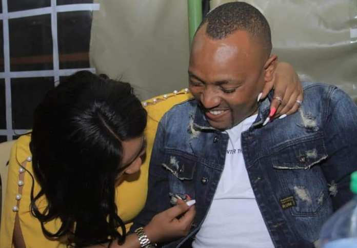 Skirt-chasing presenter, MZEE KIENGEI, celebrates 5th anniversary with side-chick turn wife, ASHLEY (PHOTOs)