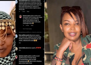 Karen Nyamu Hits Back at Fan Who claimed she wasted her 20s,snatched samidoh