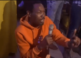 OMOSH spotted in a club drunk like a skunk, After his wife begged Kenyans for financial help (VIDEOs).