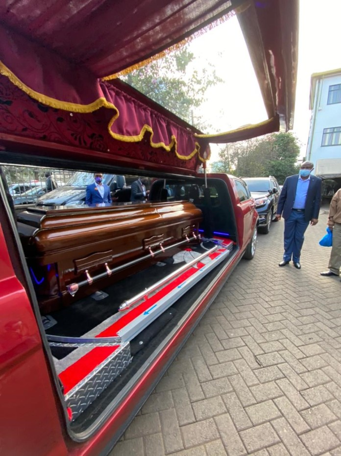 Murang'a Tycoon CHARLES MUIRURI, ferried in Range Rover hearse with police escort –(PHOTOs).