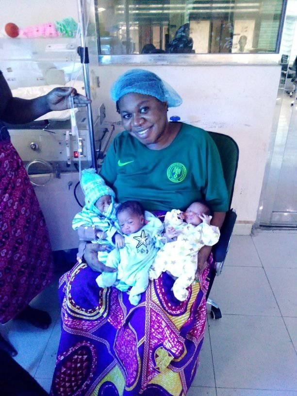 Woman gives birth to triplets after 9 years of insults and ridicule (PHOTOs).