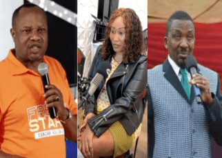 """Pastor NG'ANG'A defends Bishop DAVID MURIITHI, says his girlfriend, JUDY MUTAVE, is too hot to resist and was sent by the devil to tempt him – """"Kamejirebesha vizuri"""" (VIDEO)."""