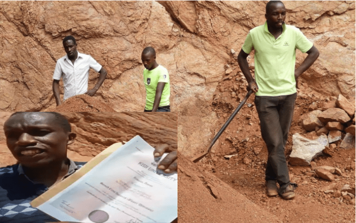 'Most of my workmates in quarry paying Ksh 100 daily have engineering degrees' Disappointed university graduate