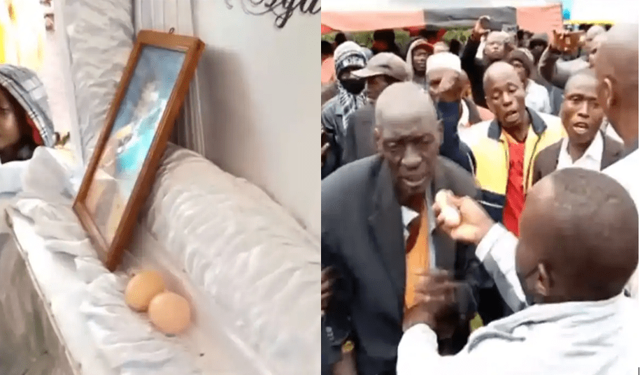 """Kakamega funeral drama :Man Busted Putting Two Eggs Inside Coffin-""""Witchcraft is Real """""""