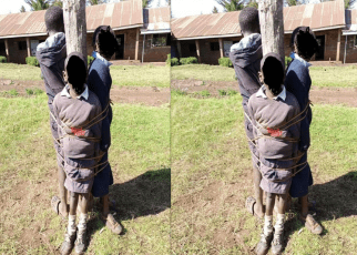 Kenyan's Angry After pupils Tied To a pole Picture Goes Viral-Punishment For Late coming