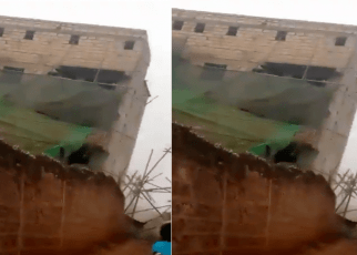 Caught on camera: Moments a 5-storey building collapsed in Kinoo (VIDEO).
