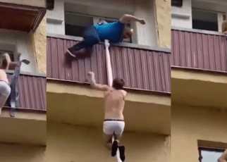 Bibi ya wenyewe ni sumu: Man runs for his dear life after he was busted in another mans Bedroom (VIDEO).