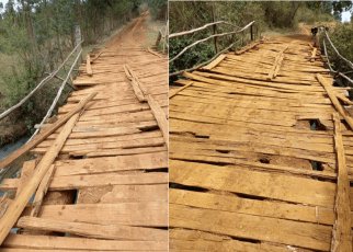This is a bridge in Kesses – The area MP SWARUP MISHRA is just 'eating' taxpayer's money in Nairobi (PHOTOs)