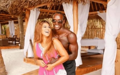 JULIE GICHURU husband's ripped body – See the photo she posted leaving women cursing their potbellied husbands.