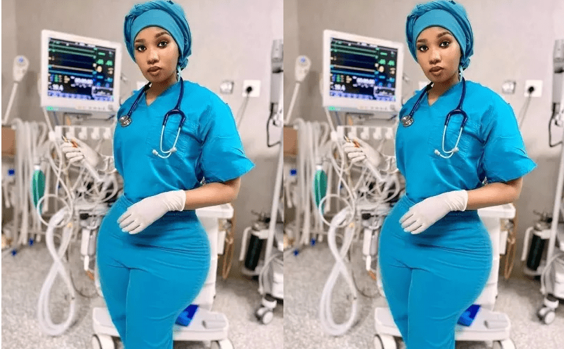 PHOTO of the curvy nurse with bottle shaped figure that has broken the internet – Every man wants an injection