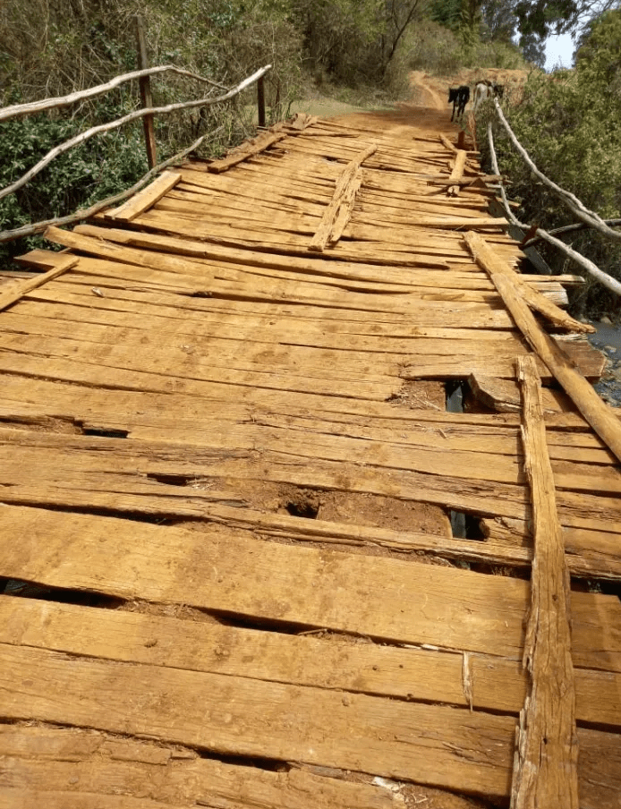 This is a bridge in Kesses – The area MP SWARUP MISHRA is 'eating' taxpayer's money in Nairobi (PHOTOs)