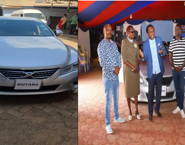 Kikuyu gospel Artist, DENNIS MUTARA, gifted a brand new Mark X after recovering from alcoholism (PHOTOs).
